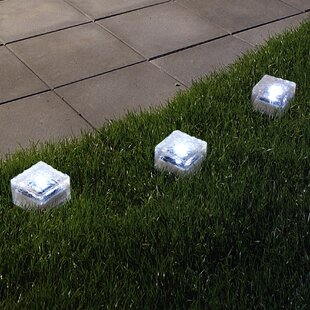 Ice Cube 3-Light LED Pathway Light (Set of 3) By Pure Garden Outdoor Lighting