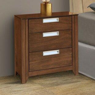 REZ Furniture Solar 3 Drawer Nightstand