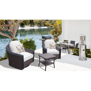 Savings Gaia 3 Piece Conversation Set with Cushions Purchase Online
