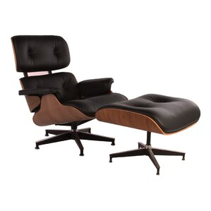 Mid Century Lounge Chair and Ottoman by Design Tree Home