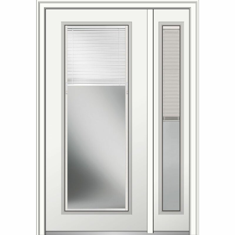 Verona Home Design Full Lite Primed Steel Prehung Front Entry Doors Wayfair