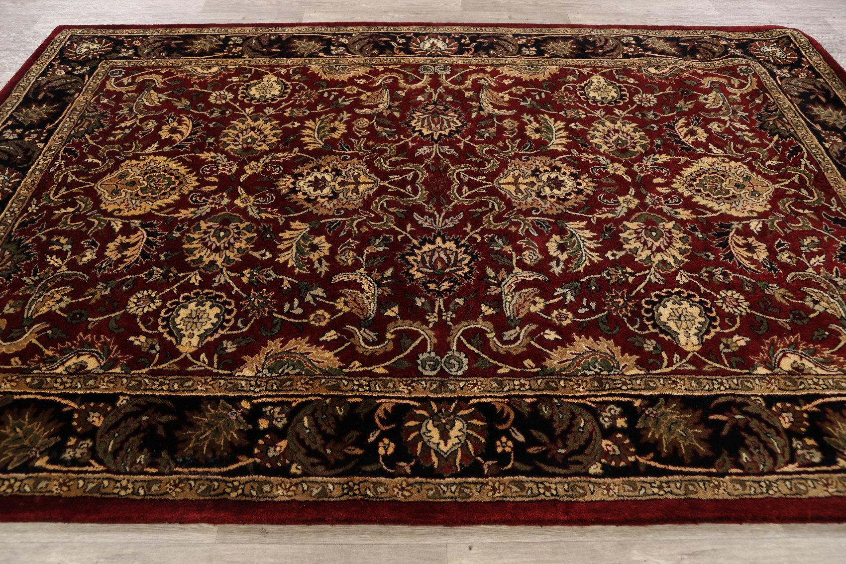 Rugsource Oriental Handmade Tufted Wool Red Black Ivory Area Rug Wayfair