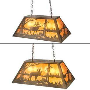 Loon Peak Mildred Moose and Elk 6-Light Pool Table Lights Pendant