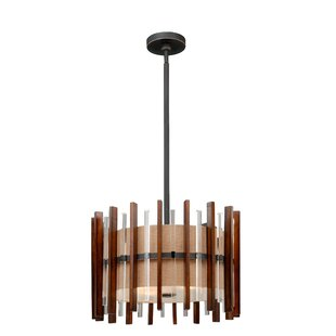 Orren Ellis Penland 4-Light Drum Chandelier