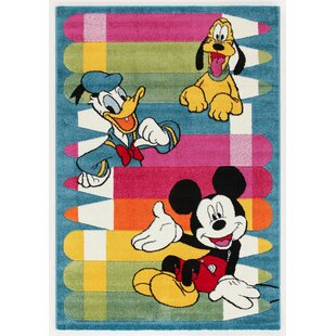 For Kids Blue/Yellow/Red Area Rug by Castleton Home
