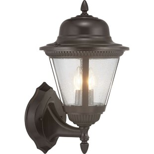 Alcott Hill Triplehorn 2-Light Outdoor Wall Lantern