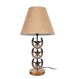 Read Reviews Horseshoe 25.5 Table Lamp By DEI