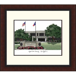 NCAA Angelo State Rams Legacy Alumnus Lithograph Picture Frame By Campus Images
