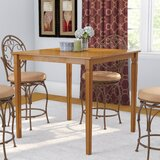 Trenton Counter Height Solid Wood Dining Table by Charlton Home®