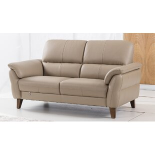 Shriner Leather Loveseat
