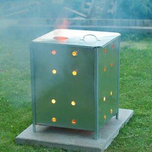 Gregson Nature Garden Incinerator Galvanised Steel Outdoor Fireplace By Sol 72 Outdoor
