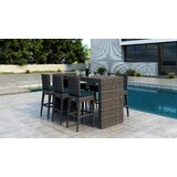 Gilleland 7 Piece Bar Height Dining Set with Sunbrella Cushion