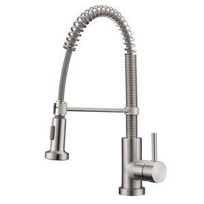 White Kitchen Faucets Pull Down brushed nickel kitchen faucets you'll love | wayfair
