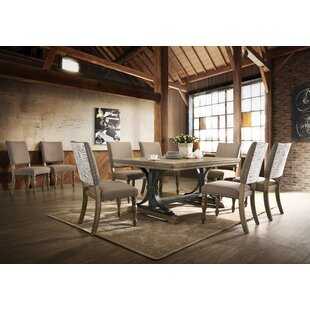 One Allium Way Alfano 9 Piece Extendable Dining Set