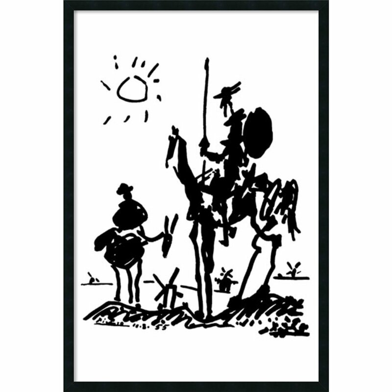 Red Barrel Studio Don Quixote By Pablo Picasso Framed Painting