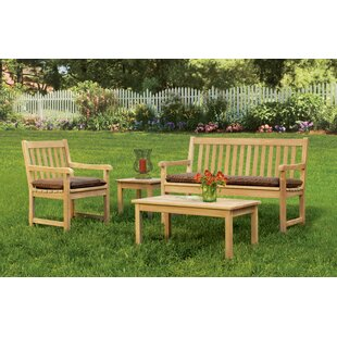Harpersfield 4 Piece Sunbrella Sofa Seating Group With Cushions By Beachcrest Home
