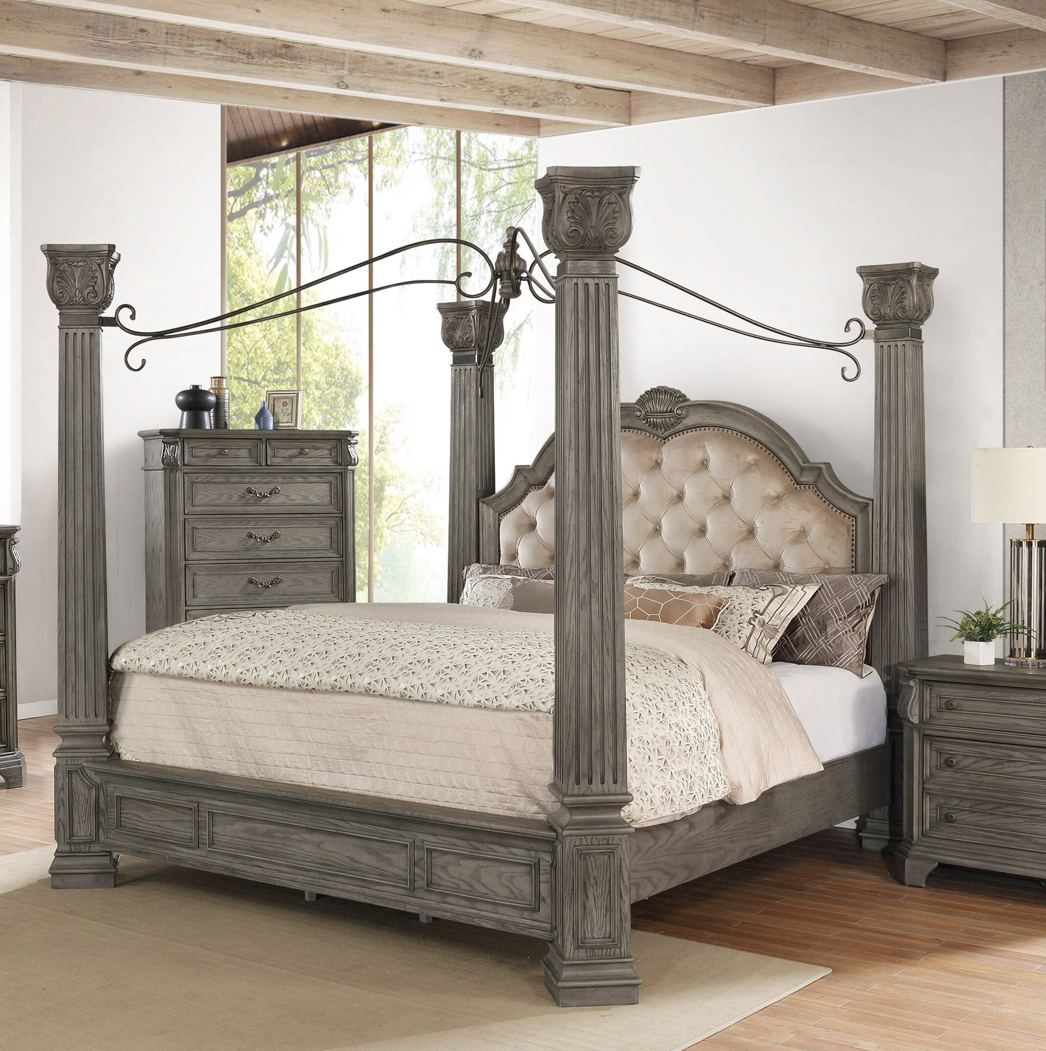 Avalon Furniture Grand Isle Queen Canopy Bed Wayfair
