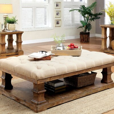 Arizona Floor Shelf Coffee Table with Storage Beachcrest Home