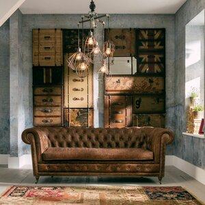 3-Sitzer Sofa Oxford aus Leder von KARE Design