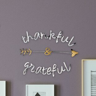 Thankful and Grateful Wall D?cor by Letter2Word