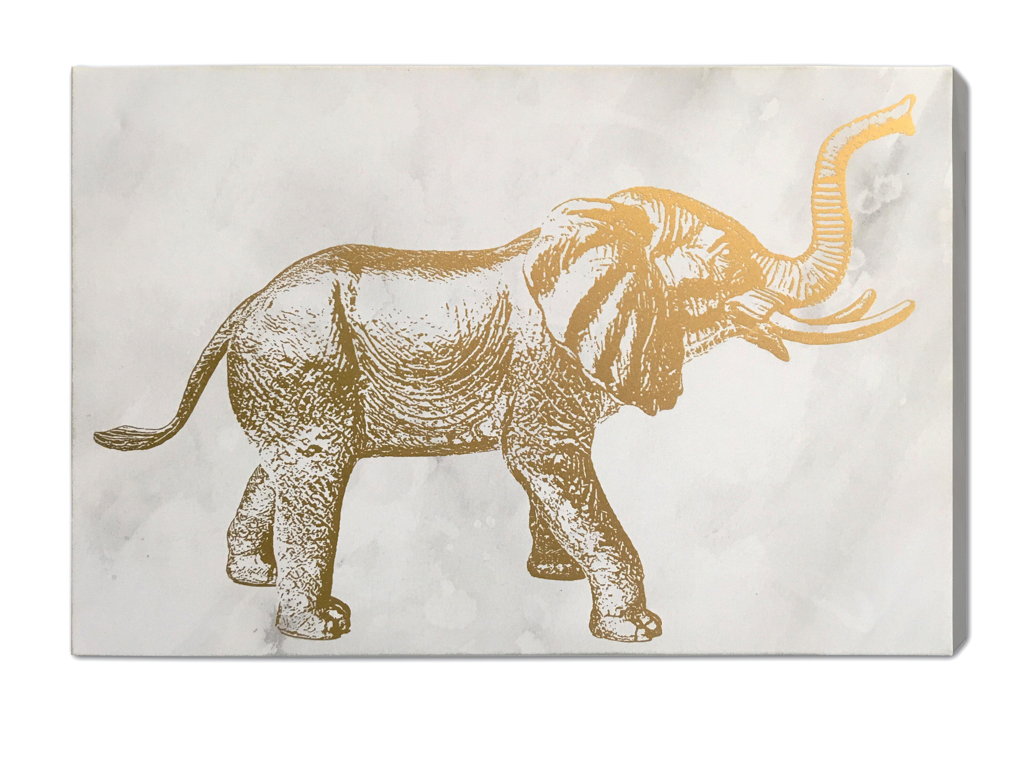 graphic canvas area art pillows wayfair willa rug elephant interiors foil decor pdx gold arlo on reviews