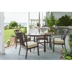Paula Deen Home River House 5 Piece Sunbrella Dining Set With Cushions
