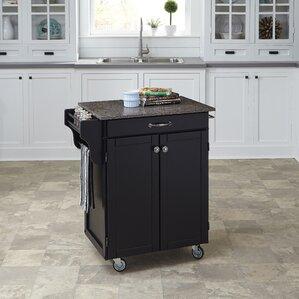 Savorey Kitchen Cart with Quartz Top by August Grove