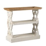 Birchfield Wood Shelf - Distressed White, Natural by Ophelia & Co.