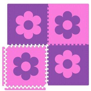 Economy SoftFloors Flower Set in Pink/Purple ByAlessco Inc.