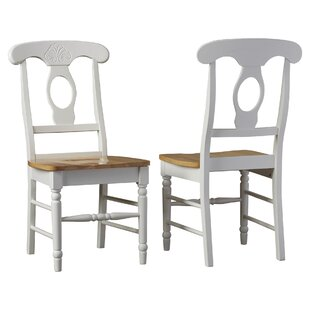 Ilka Solid Wood Side Chair in White Set of 2 by August Grove