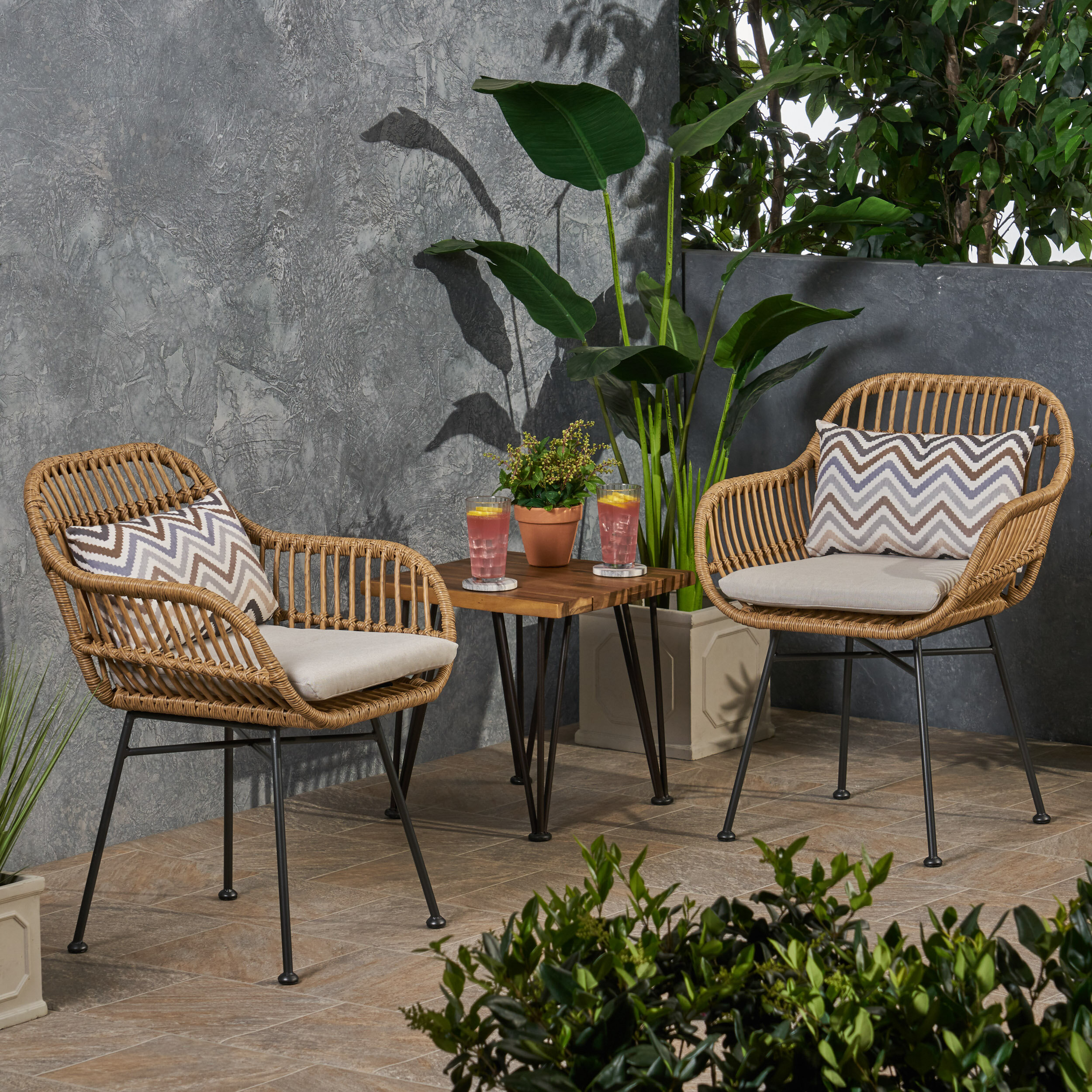 Maspeth Outdoor Woven Patio Chair