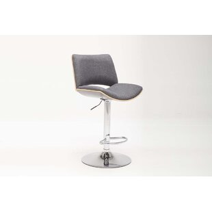Berwyn Adjustable Height Swivel Bar Stool Orren Ellis