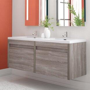 Hampden 59 inch  Double Bathroom Vanity Set