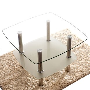Great Price Hannibal Glass Top 2 Tier Coffee Table by Symple Stuff