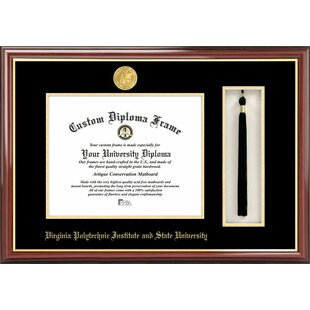 NCAA Virginia Tech Tassel Box and Diploma Picture Frame By Campus Images