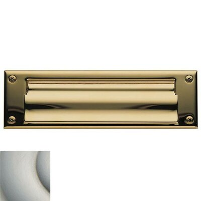 Baldwin 10 in x 3 Brass Mail Slot Color: Satin Nickel