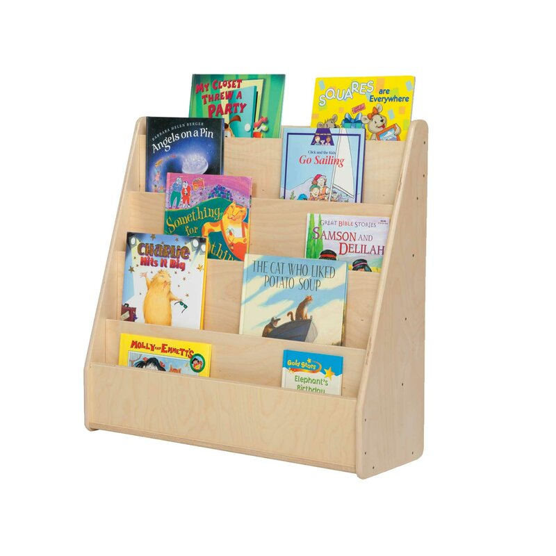 Wood Designs Contender Double Sided 8 Compartment Book Display Reviews Wayfair