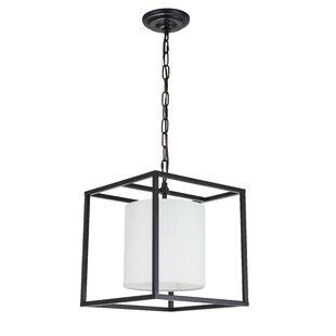 Orren Ellis Zimmermann 1-Light Square Pendant