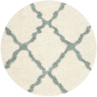 Charmain Ivory/Light Blue Area Rug by Willa Arlo Interiors
