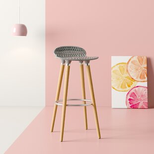 Alvah Perforated Tractor 29 Bar Stool (Set of 2) by Hashtag Home