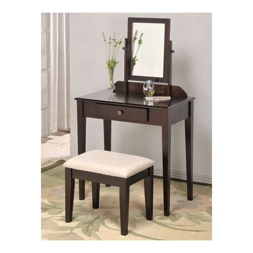 Mooney Vanity Set with Stool and Mirror