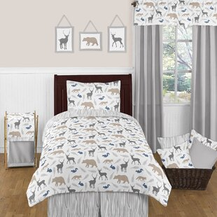 Woodland Animals Twin Comforter Set