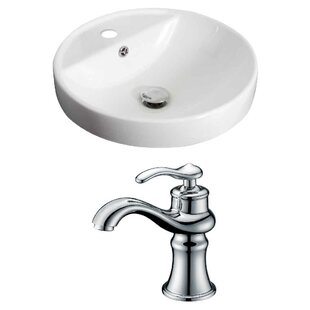 Searching for Ceramic Circular Drop-In Bathroom Sink with Faucet and Overflow By Royal Purple Bath Kitchen