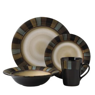 Cayman 16 Piece Dinnerware Set Service for 4  sc 1 st  Wayfair & Non Breakable Dinnerware Sets | Wayfair