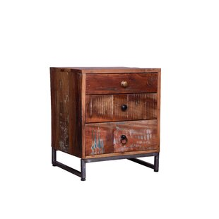 Moneta 3 Drawer Nightstand by World Menagerie