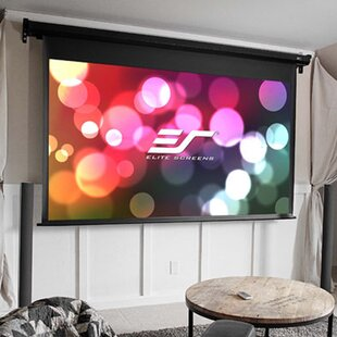 VMax Dual White Electric Projection Screen