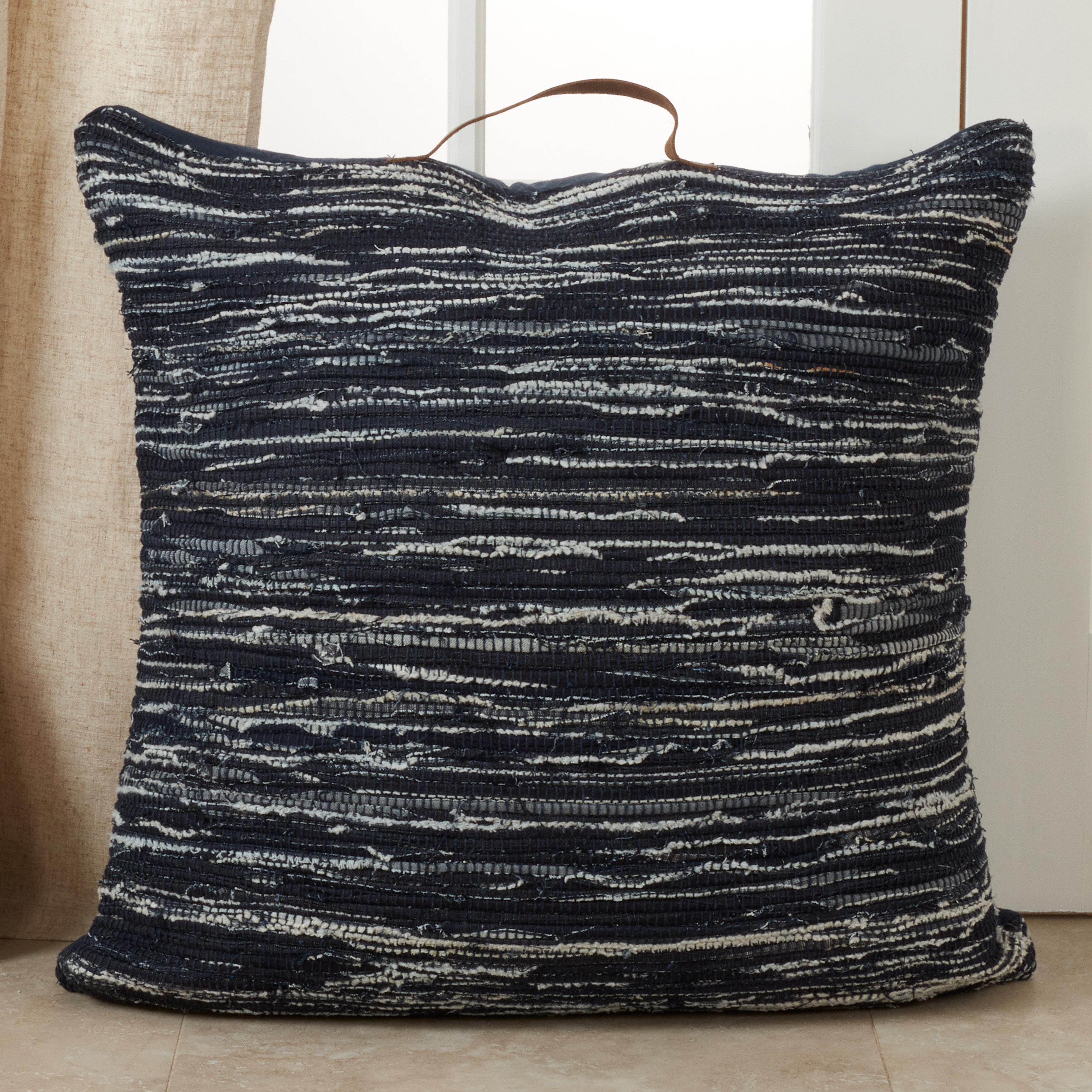 Williston Forge Kress Cotton Striped Floor Pillow Wayfair