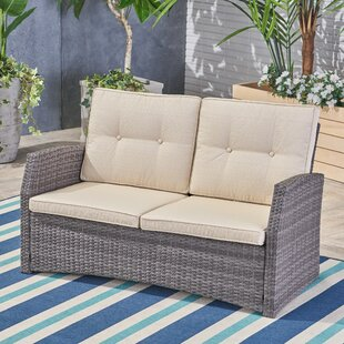 Pascua Loveseat with Cushions by Rosecliff Heights