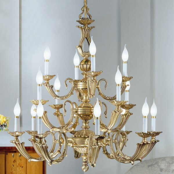 Astoria Grand Fairlawn 16 Light Candle Style Classic Traditional Chandelier Wayfair