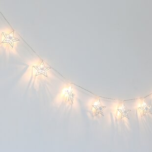 The Peanut Shell Farmhouse Twinkle Stars LED 67 ft. 10-Light Novelty String Lights